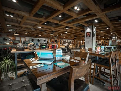 15 seaters Open Desk Gurgaon Sector 50 motoziel-cafe-and-brewery---myhq-coworking-space