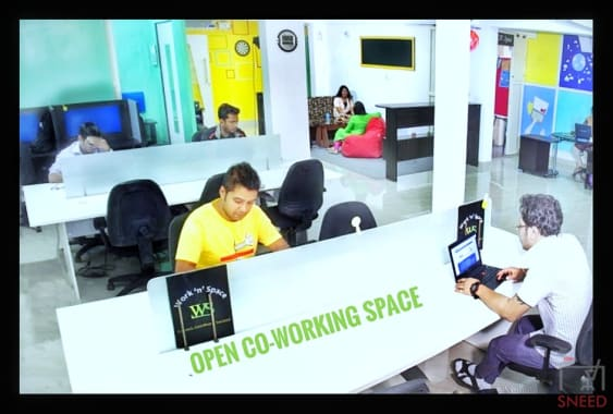 6 seaters Open Desk Bangalore Banaswadi work-n-space