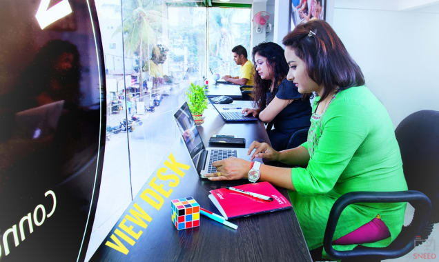 7 seaters Open Desk Bangalore Banaswadi work-n-space