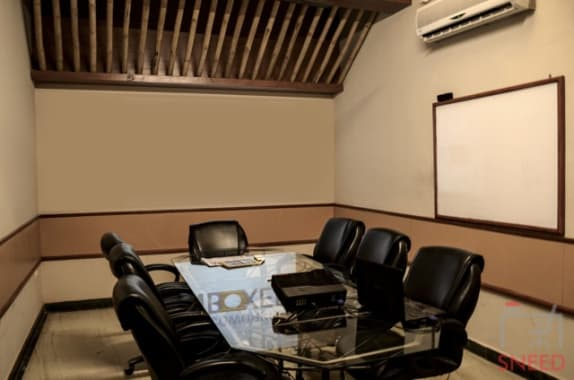 8 seaters Meeting Room Noida Sector 65 unboxed-coworking