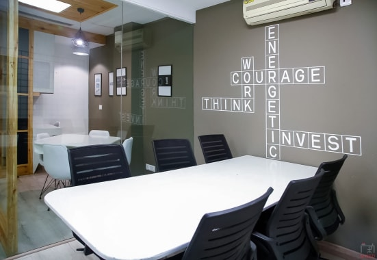 6 seaters Meeting Room New Delhi Greenpark greenpark-metro-coworking
