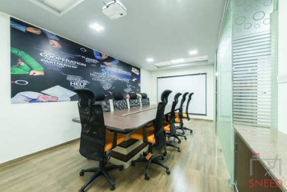 8 seaters Meeting Room Bangalore Whitefield upstart-coworking-space