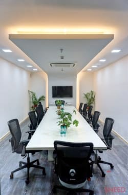 14 seaters Meeting Room Pune Baner smartworks-pride-baner