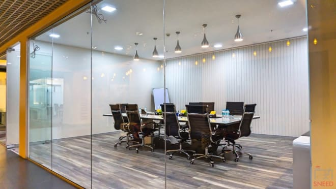 6 seaters Meeting Room Hyderabad Hitech City smartworks-purva-summit