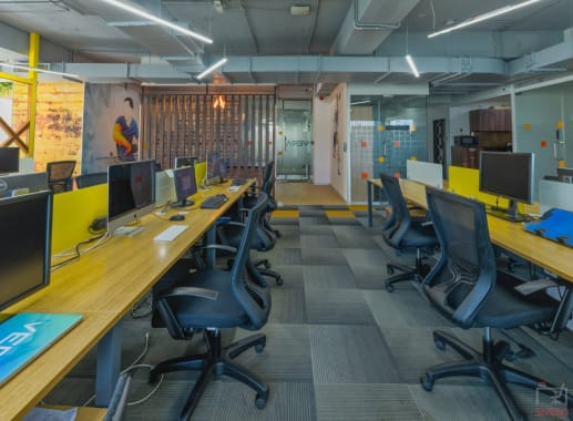 166 seaters Open Desk Pune Baner indiqube-kode-it
