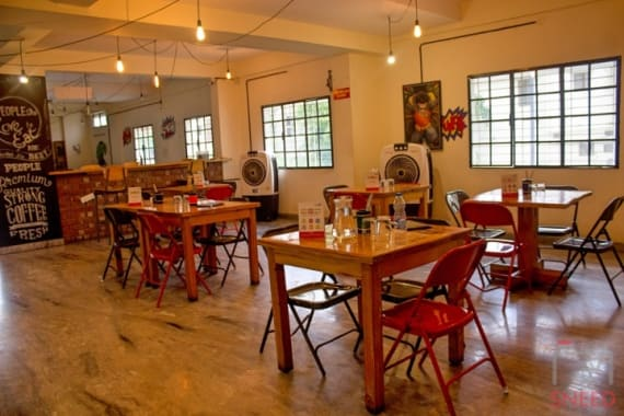15 seaters Open Desk Bangalore Banashankari dialogues-cafe-down-the-alley