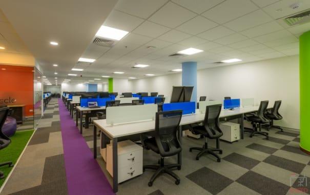 200 seaters Open Desk Bangalore JP Nagar indiqube-south-island
