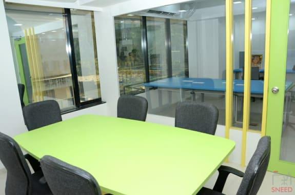 6 seaters Meeting Room Pune Karve Nagar qabila-cowork