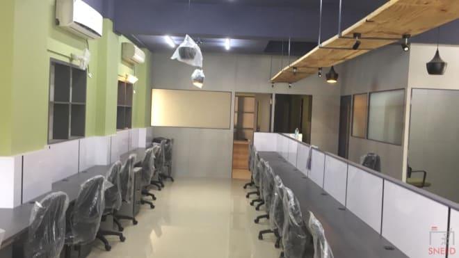 35 seaters Open Desk Bangalore Kalyan Nagar plug-n-play