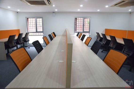 25 seaters Open Desk New Delhi Janpath connaught-space