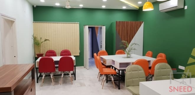 14 seaters Open Desk Lucknow Indira Nagar ecork-coworking-and-creative-spaces