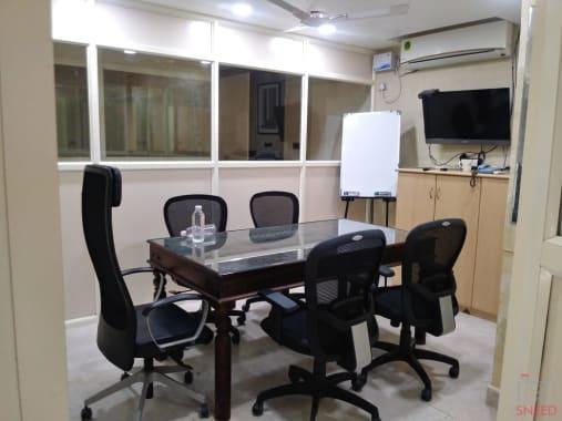 6 seaters Meeting Room Chennai Kilpauk workzone-coworking-space