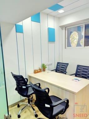 4 seaters Meeting Room Ahmedabad South Bopal abs-cowork