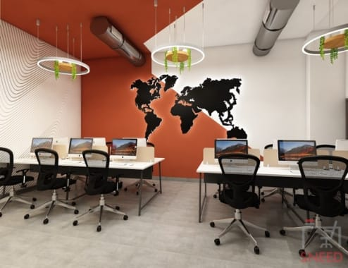 30 seaters Open Desk Gurgaon Golf Course Road office-slice