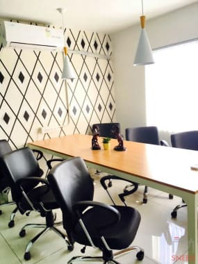 6 seaters Meeting Room Indore AB Road adited-coworking-2.0