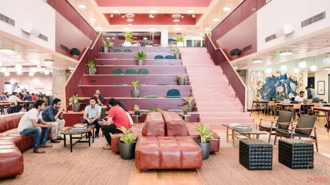 200 seaters Event Space Bangalore Residency Road wework-galaxy