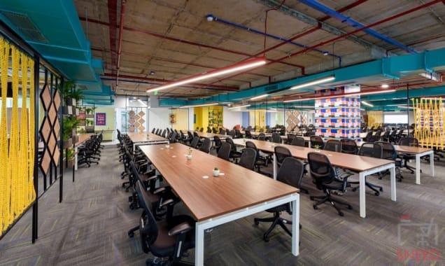 100 seaters Open Desk Hyderabad Hitech City workflo-hitex-bizness-square