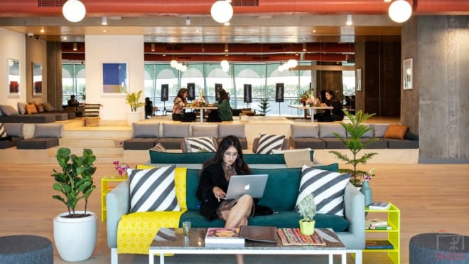 50 seaters Open Desk Gurgaon Sector 43 wework-two-horizon-center