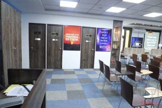 75 seaters Training Room New Delhi Nehru Place office-on-board