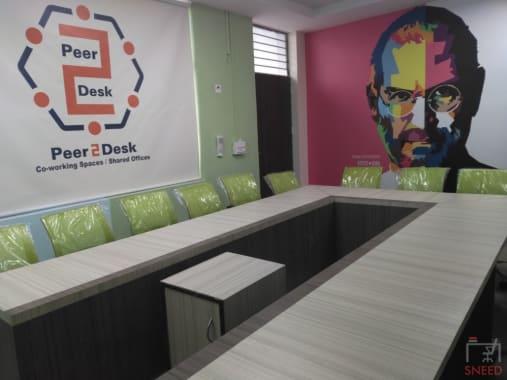 15 seaters Meeting Room New Delhi Dwarka peer2desk