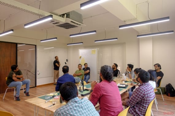 20 seaters Training Room Bangalore Indiranagar parallel