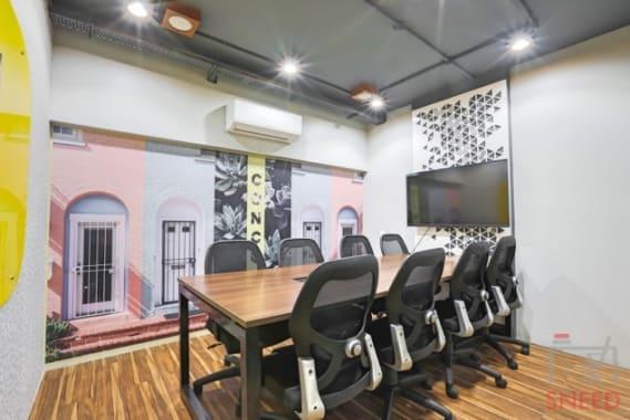 8 seaters Meeting Room Indore Vijay Nagar sky-space-premium-coworking-space