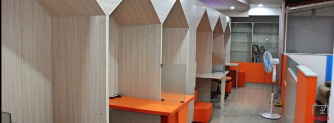 8 seaters Open Desk Bangalore MG Road solo-cubes