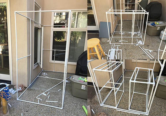 Failed PVC Catio with non-standard measurements.