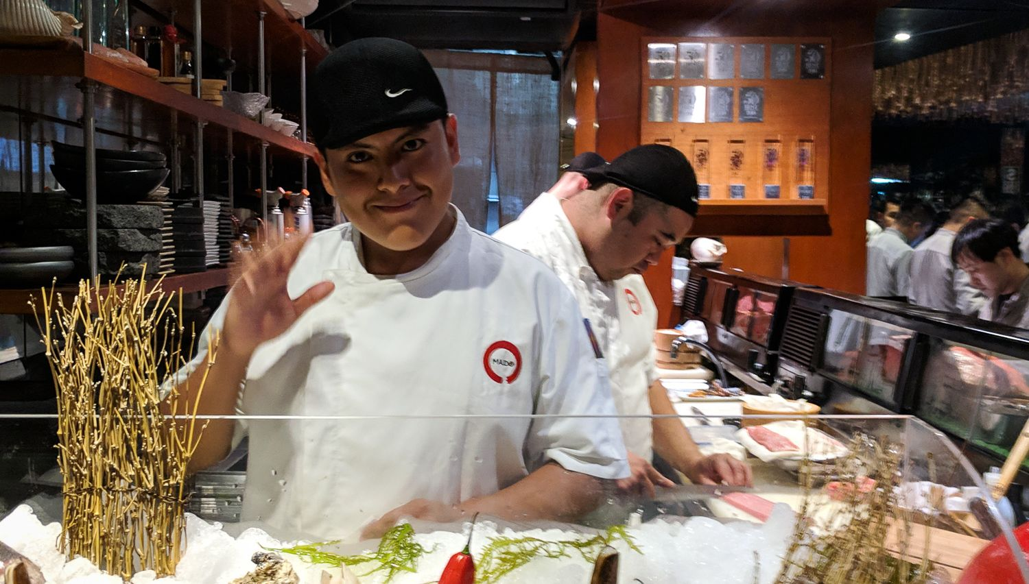 One of the chef's giving us a wave