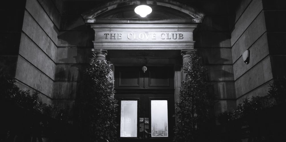 The entrance to The Clove Club