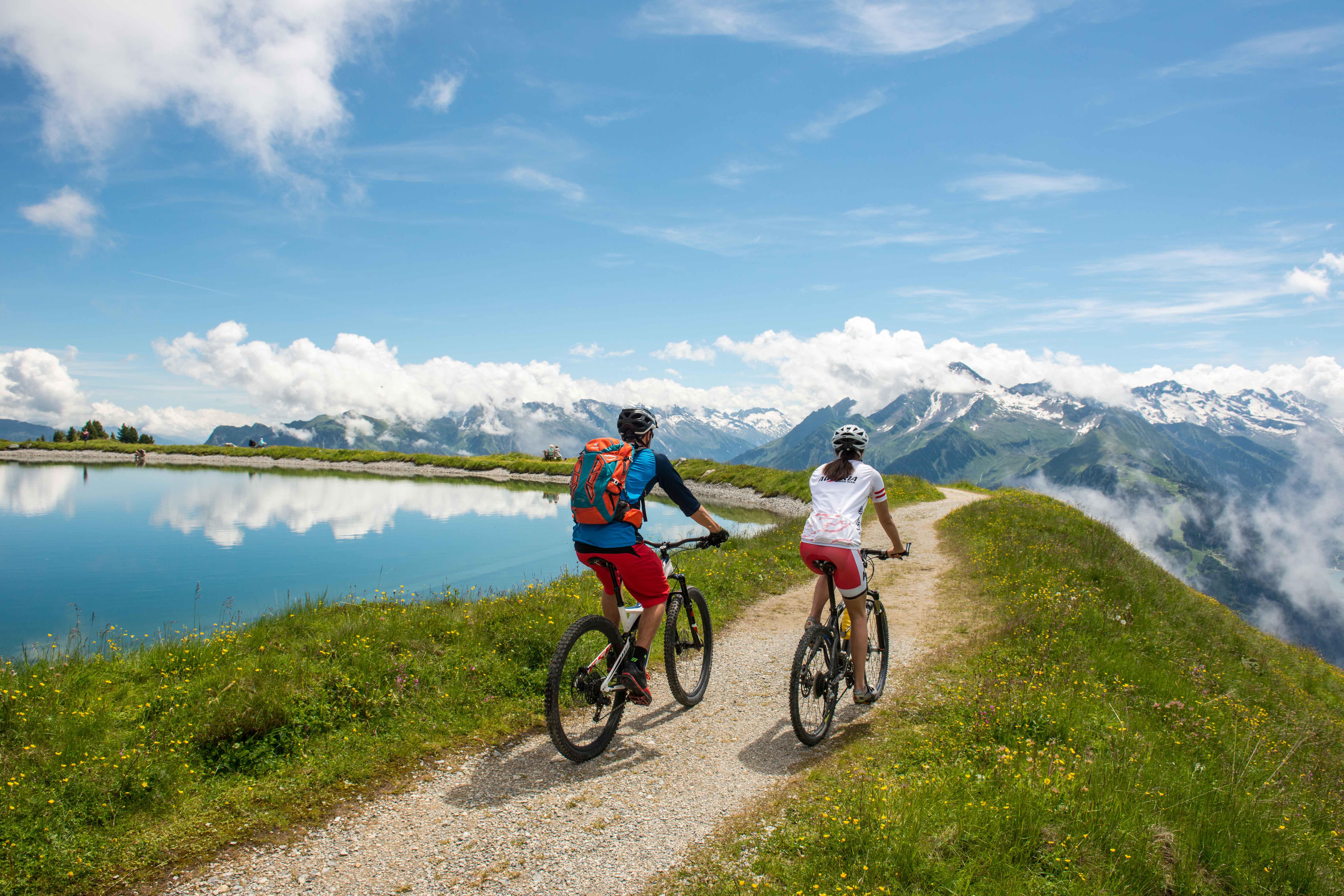 Mountainbiken in de bergen rondom Mayrhofen
