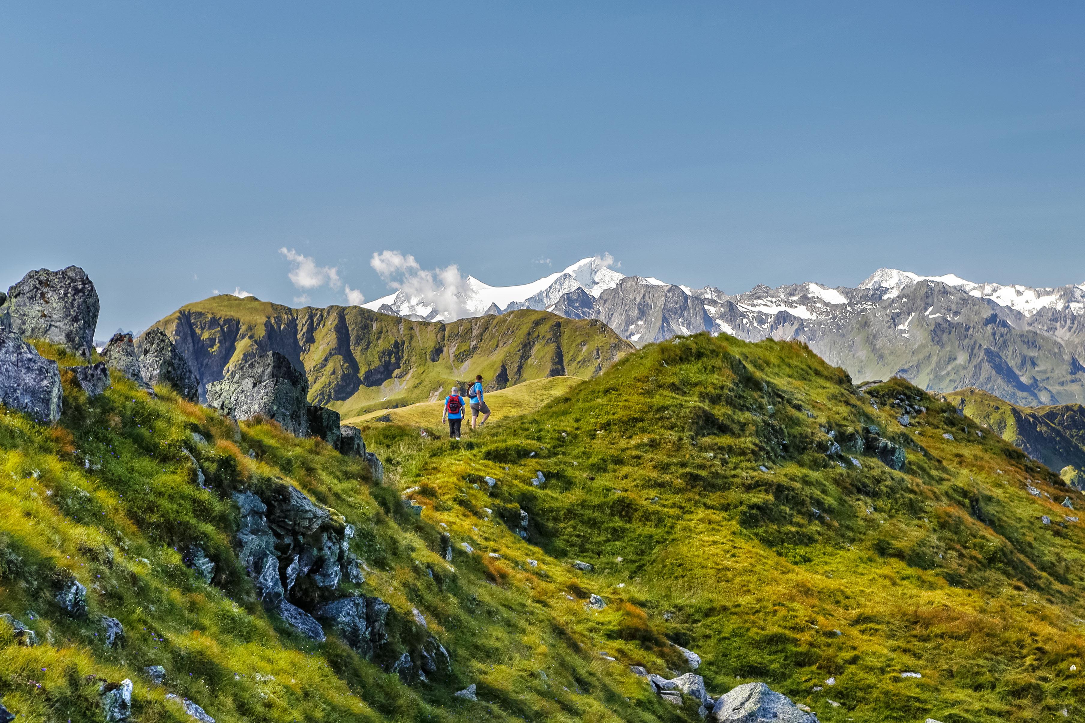 wandelen in de bergen rondom Saalbach