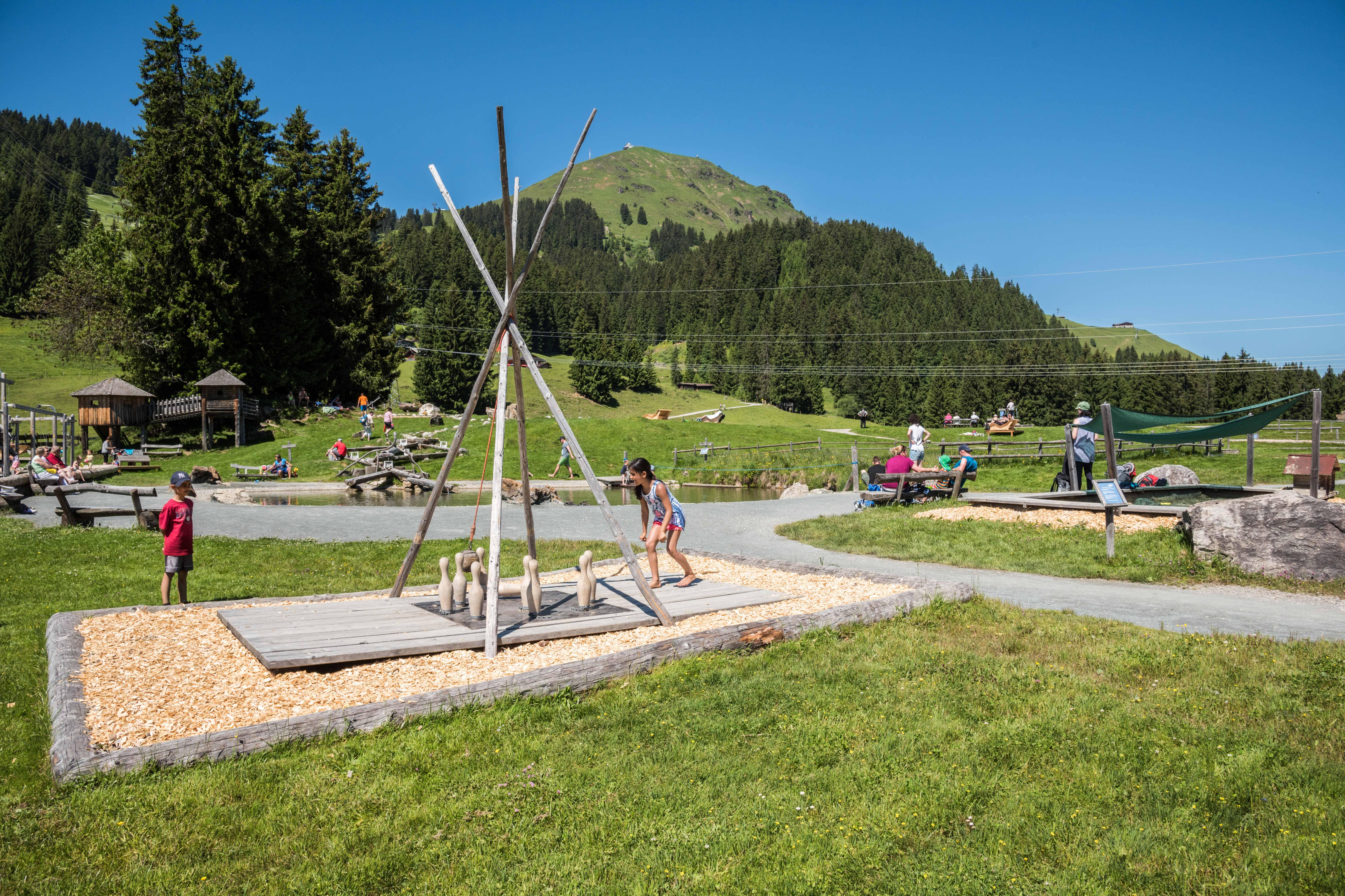 Het avonturenpark bij de Filzalmsee
