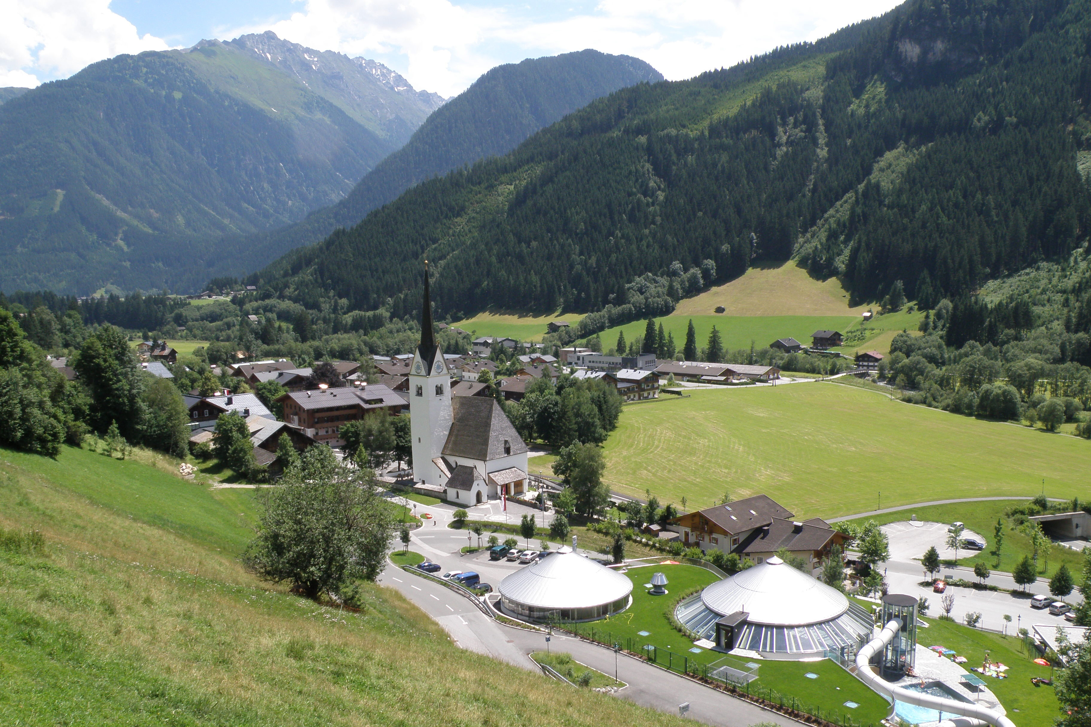 Uitzicht op het dorp Wald