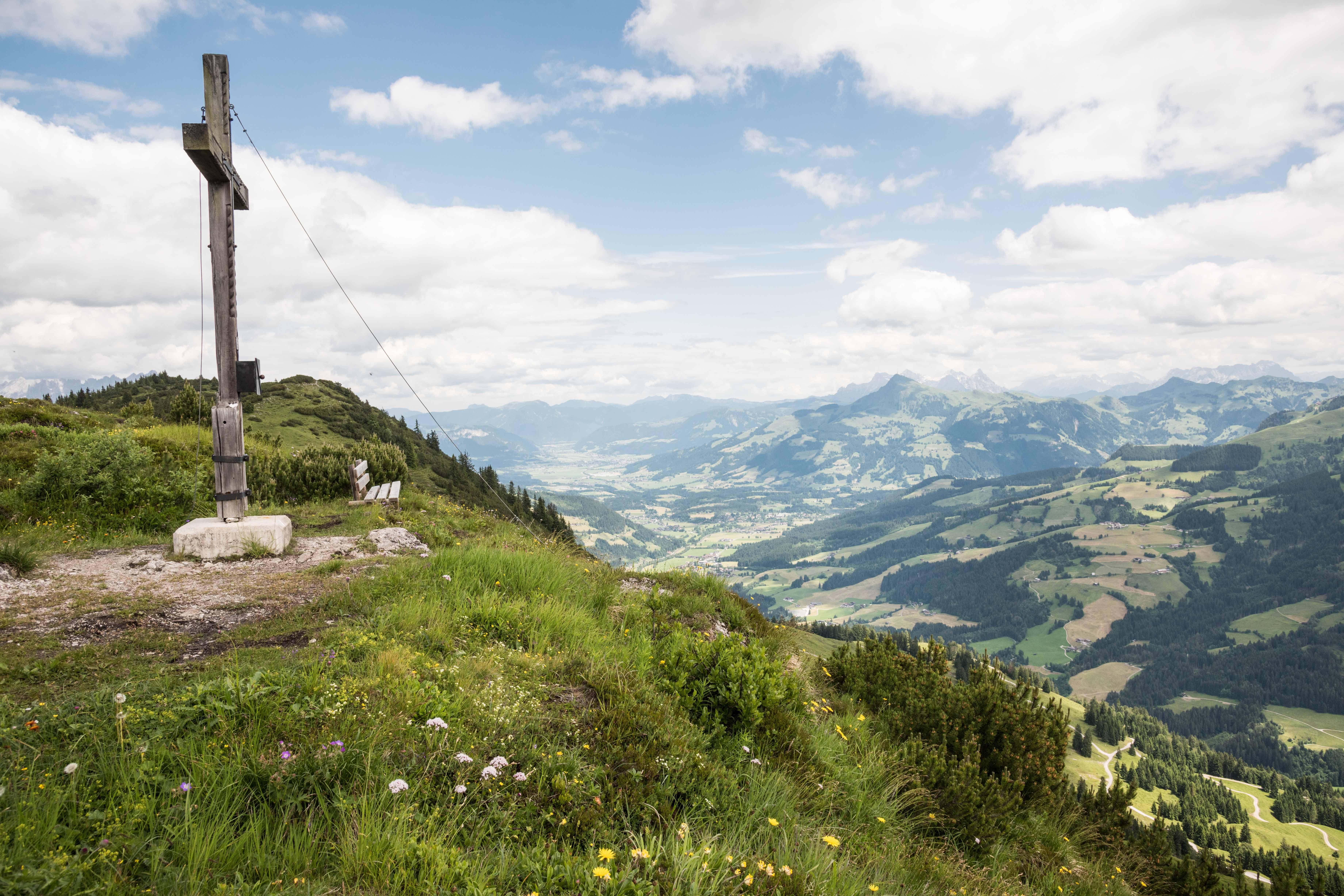 Uitzicht vanuit de bergen rondom Wilder Kaiser - Brixental