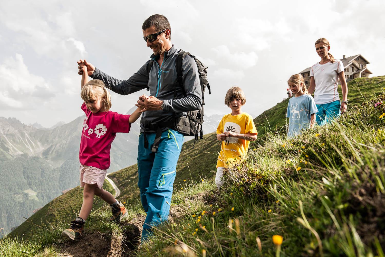 Wandelen met de familie in het Stubaita;