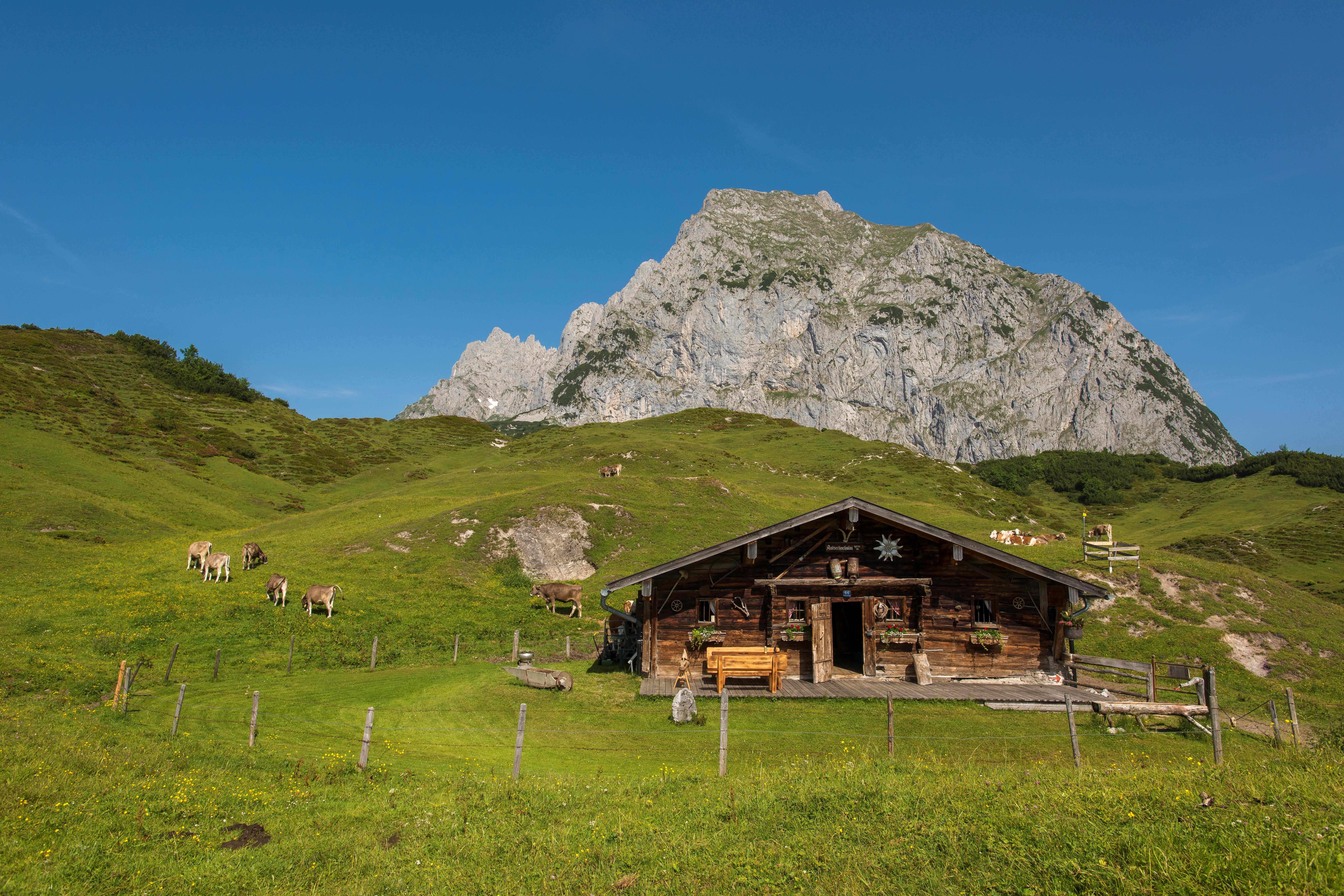 Berghut in de Kitzbüheler Alpen