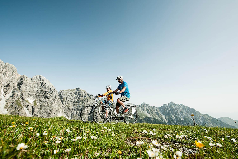 Mountainbiken in het Stubaital
