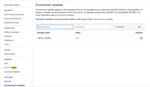 Configuring the environment variable