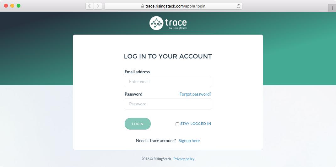 Trace login