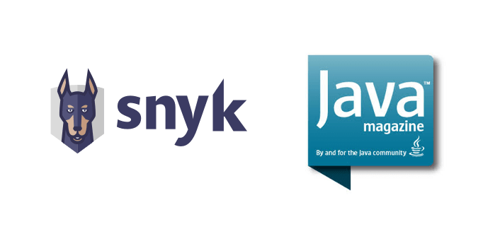 Snyk and Java Magazine logos