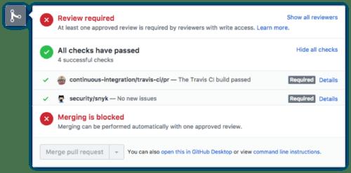 GitHub PR status check