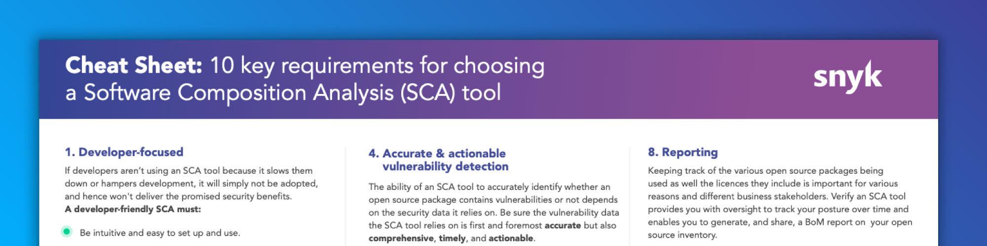 SCA tools