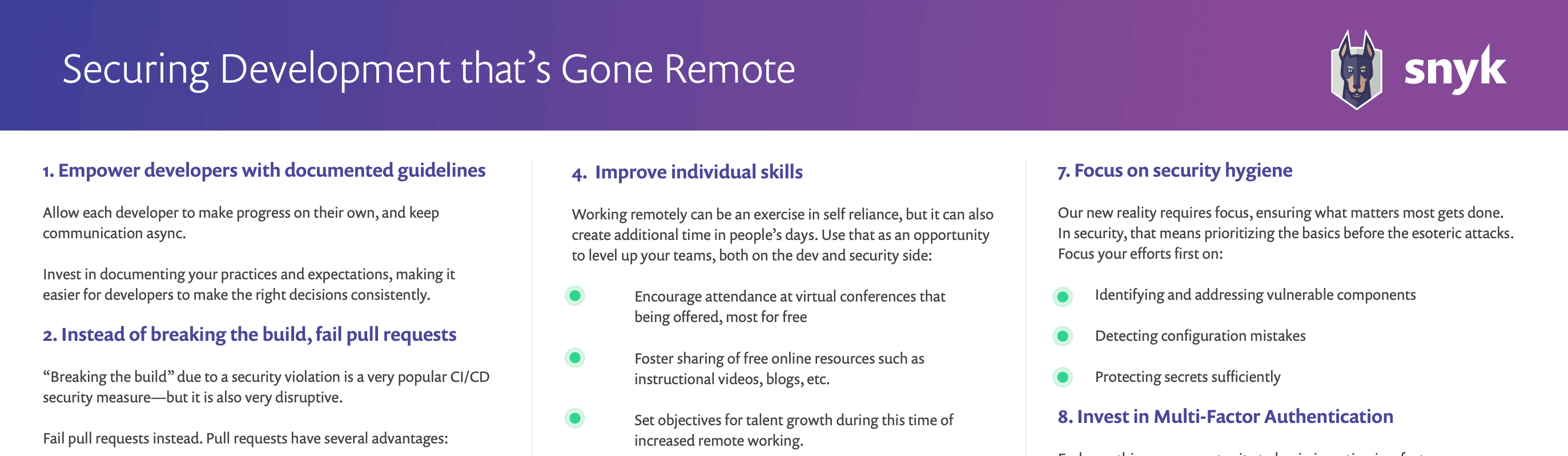Preview of Securing Development that's Gone Remote cheatsheet