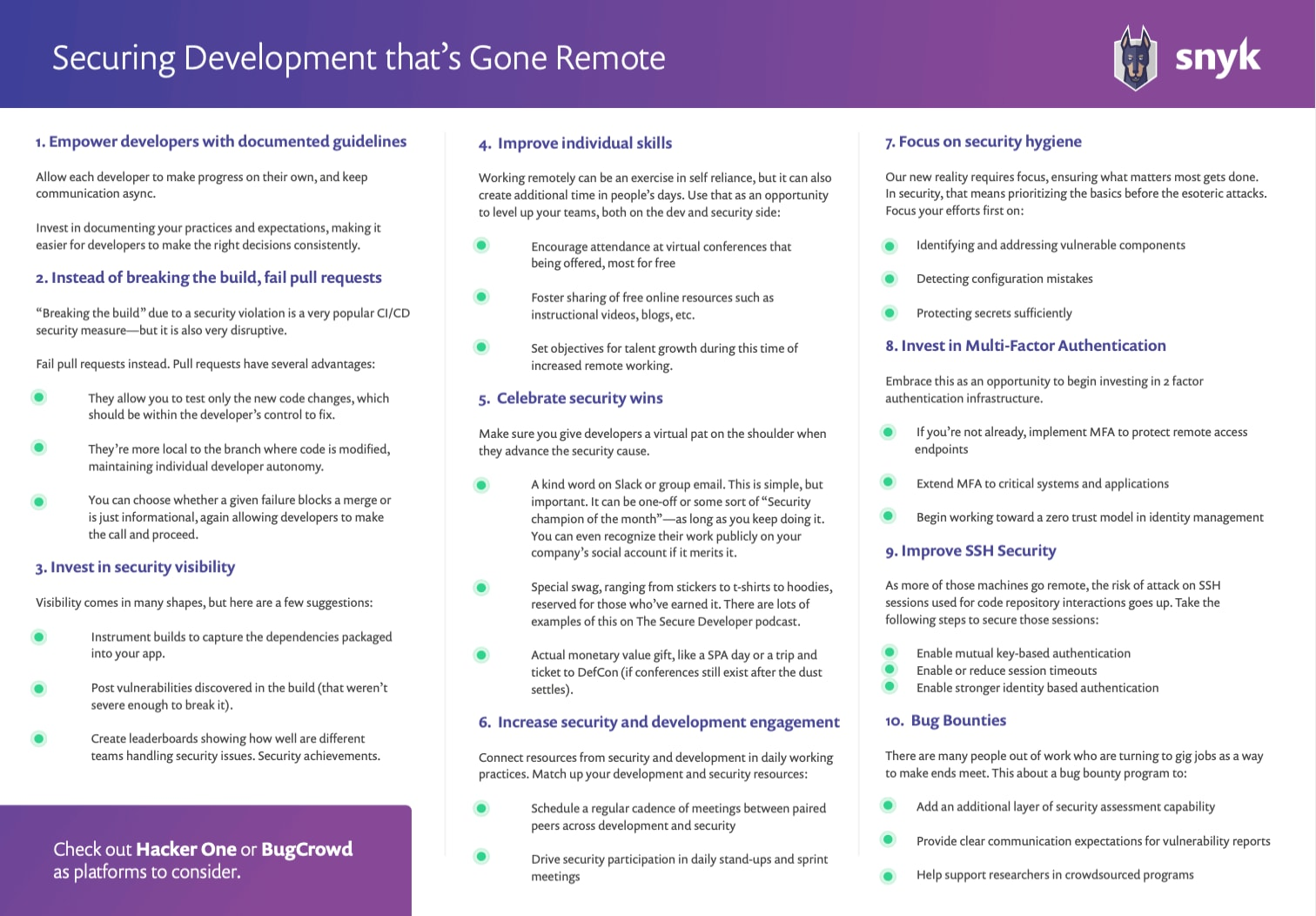 Securing Development That's Gone Remote Cheatsheet Image