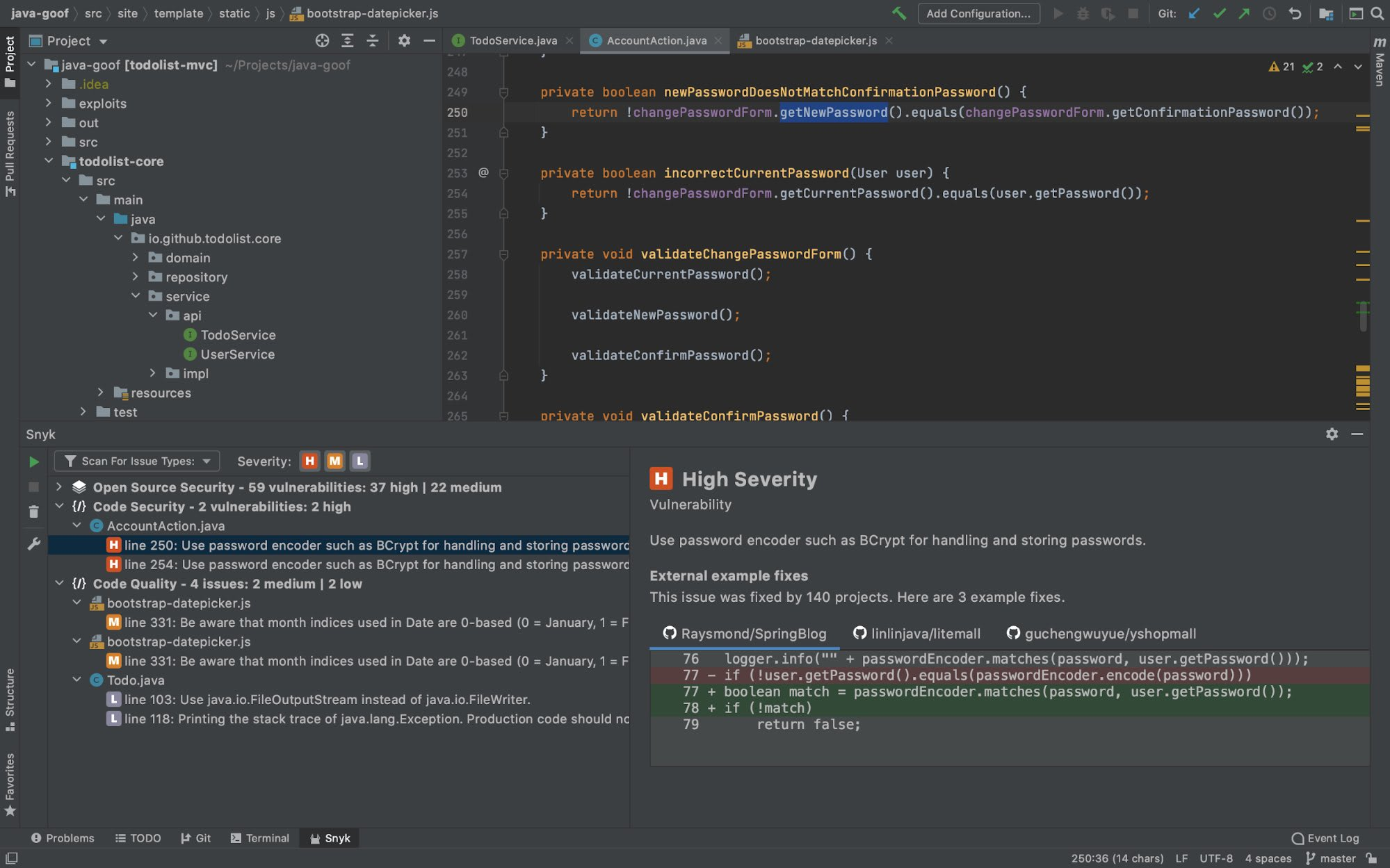 Snyk adds security directly into the development workflow with IDE integrations