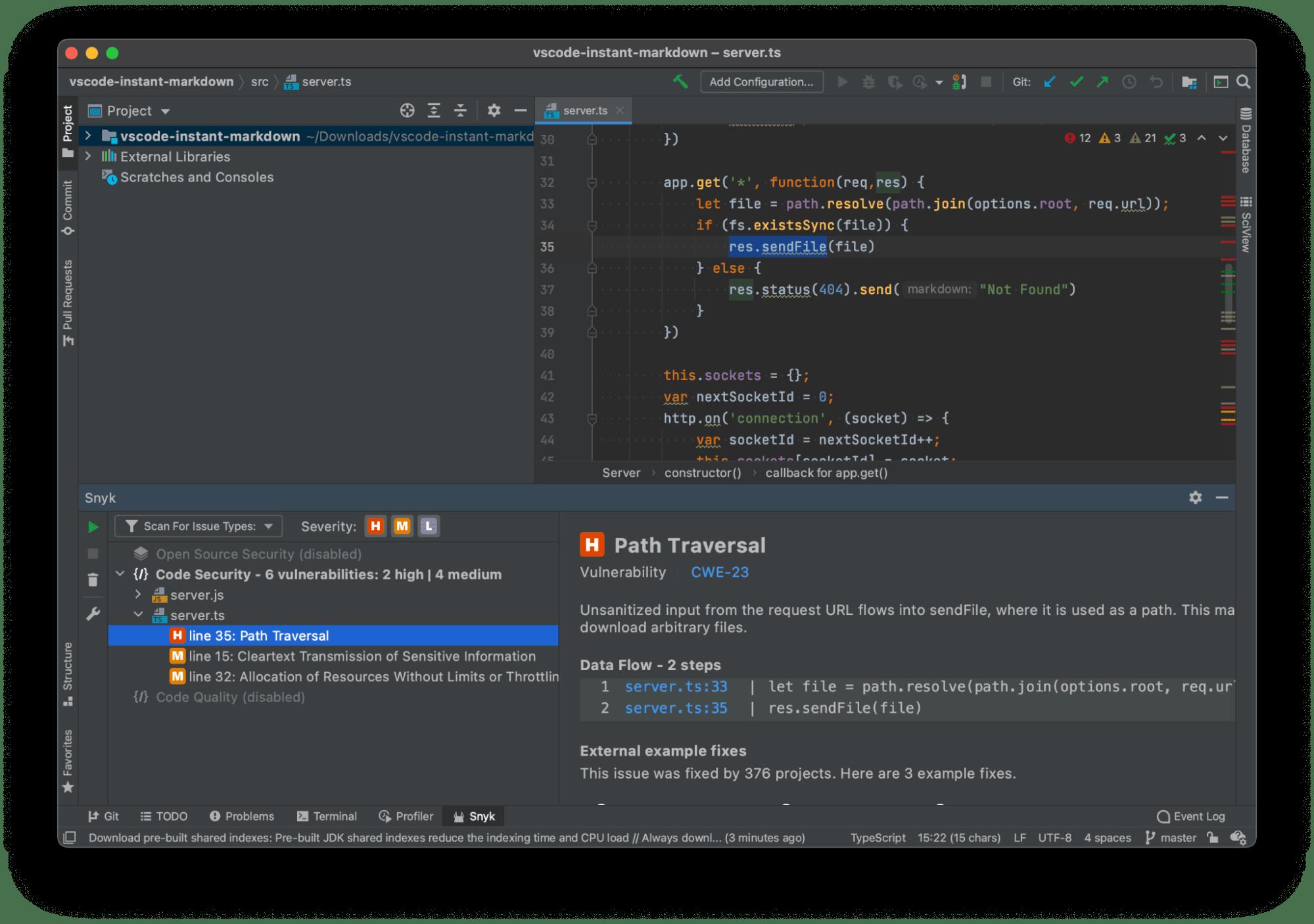 Finding path traversal vulnerabilities in VS Code IDE