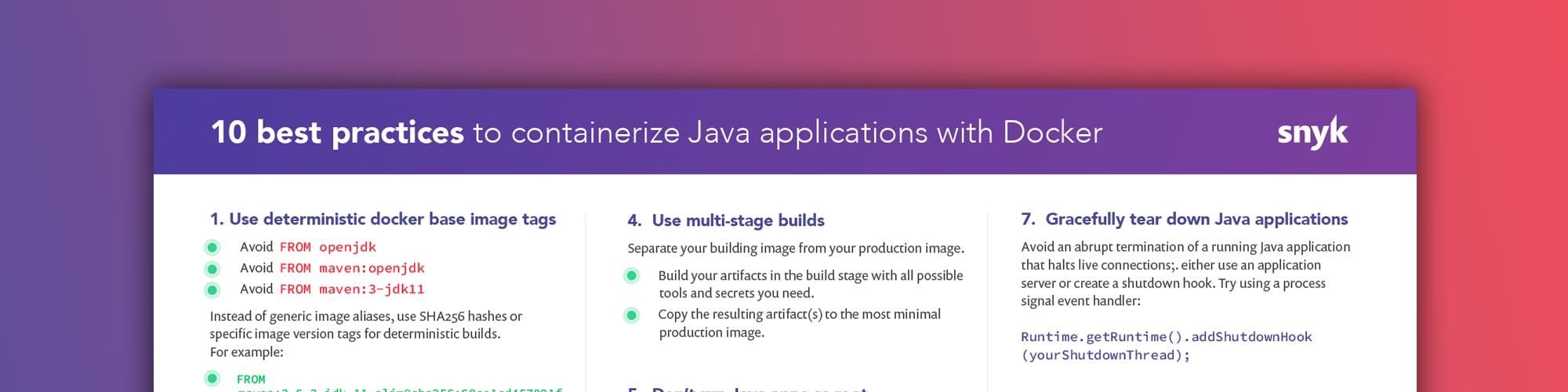 Java container
