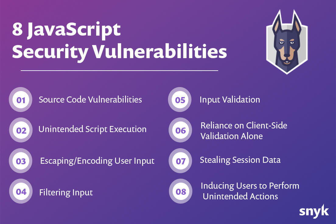 8 JavaScript security Vulnerabilities