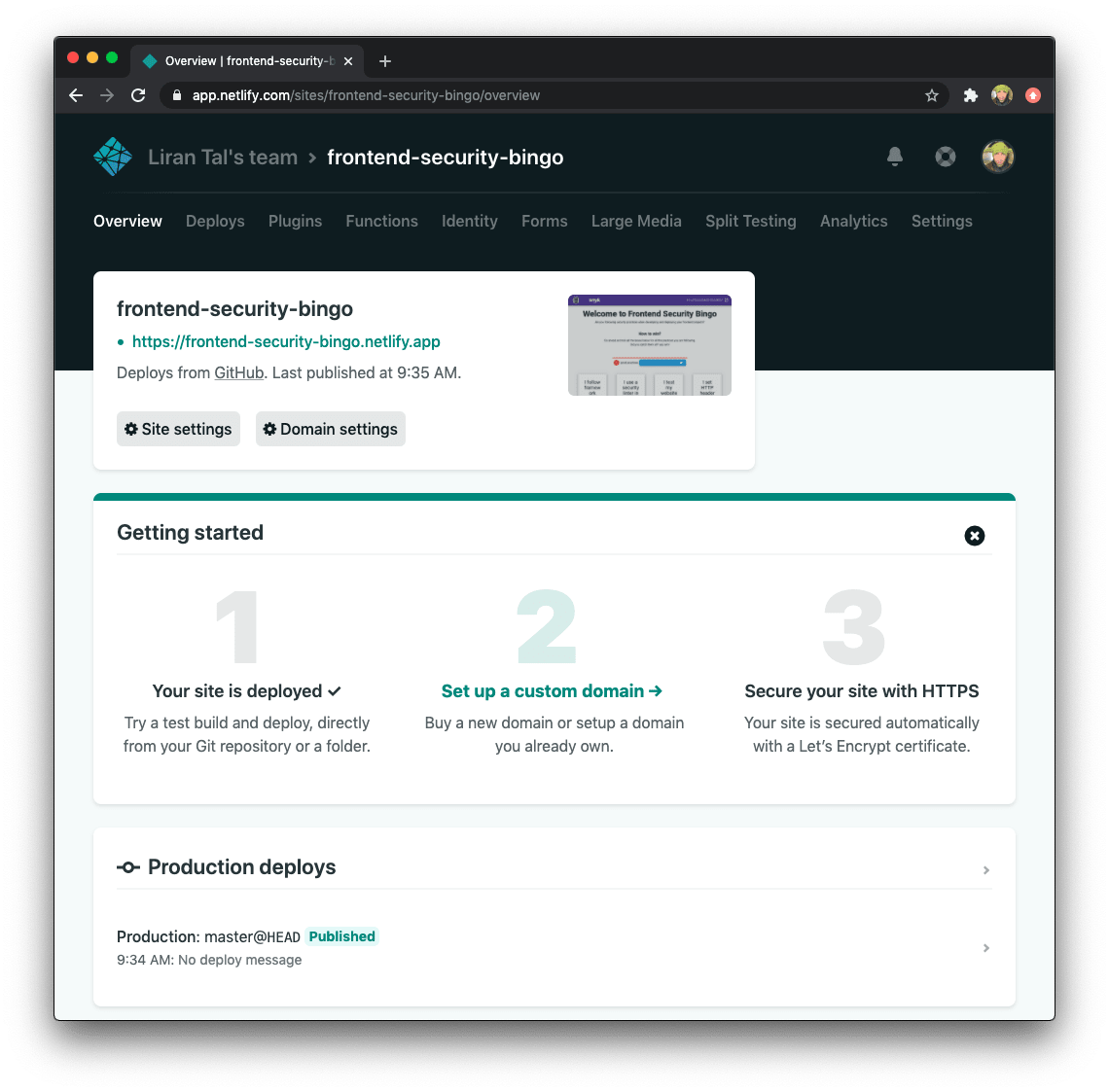 How to deploy a Vue.js Jamstack application